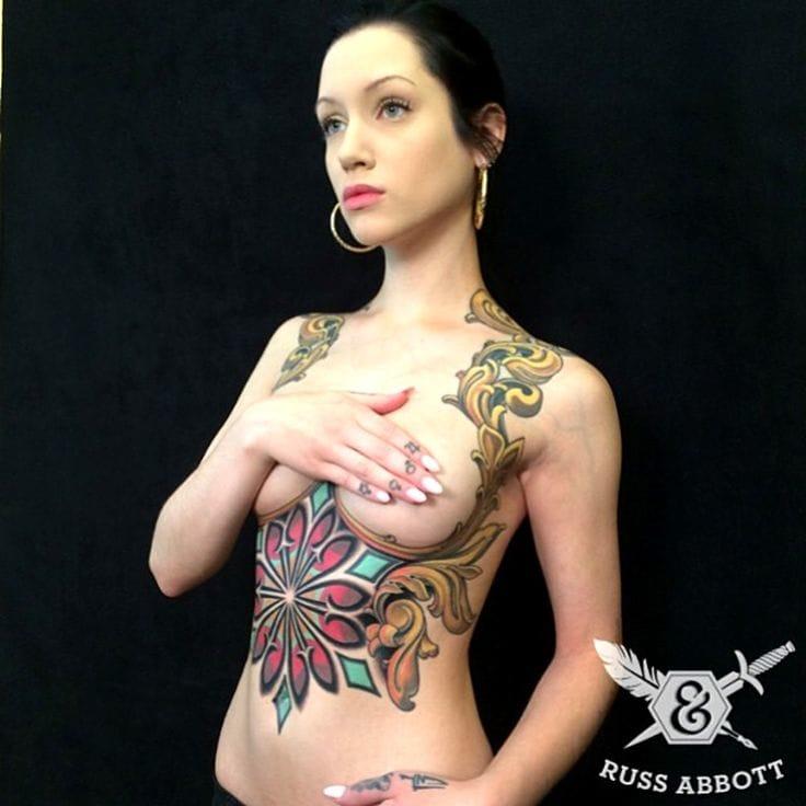 Underboob Tattoos: The Color Edition