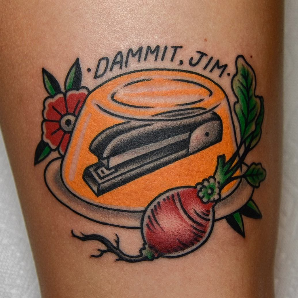 Who Put My Stapler in Jello AGAIN? Hilarious TV Show Tattoos 4 You