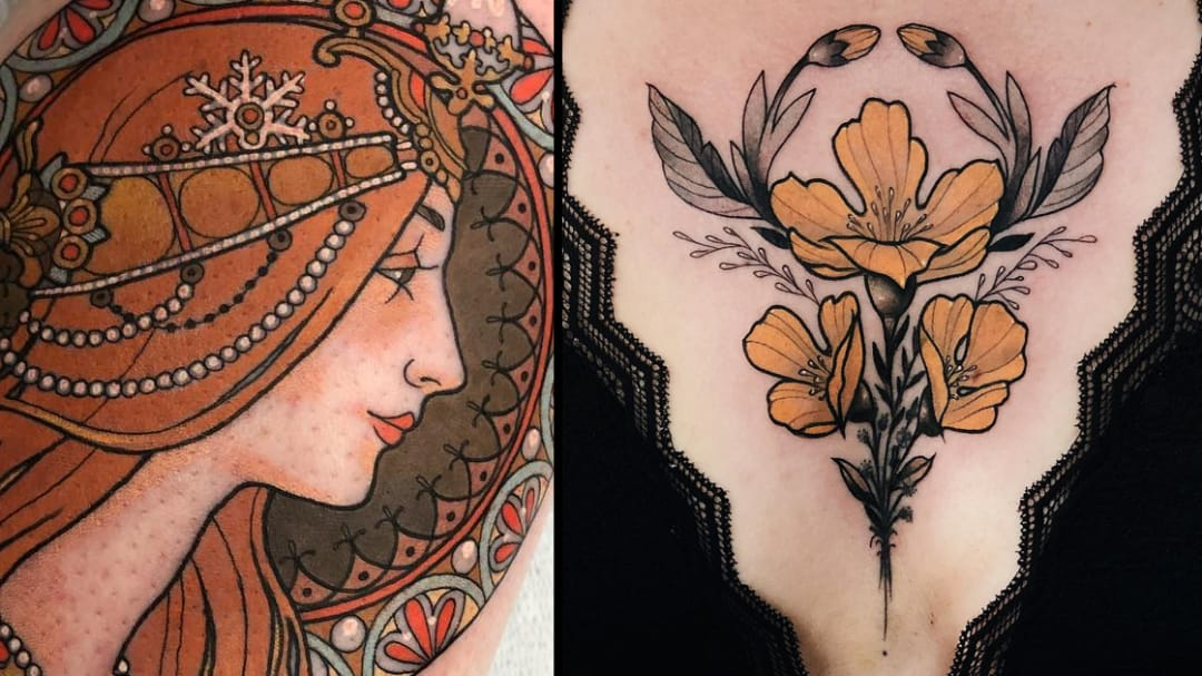 Where Nouveau and Deco Meet: Neo Traditional Tattoos