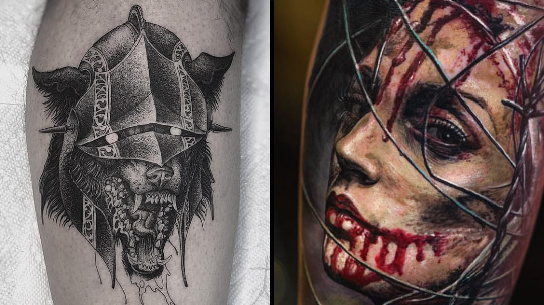 Dark Art Tattoos For When the Dark Lord Calls