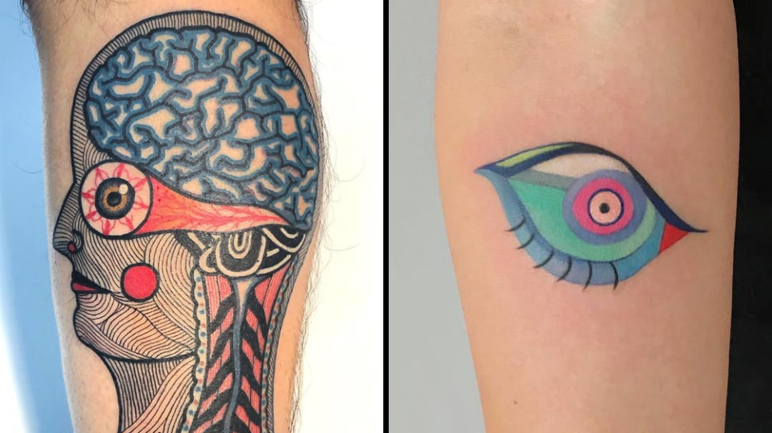 To See Beyond Reality: Psychedelic Eye Tattoos