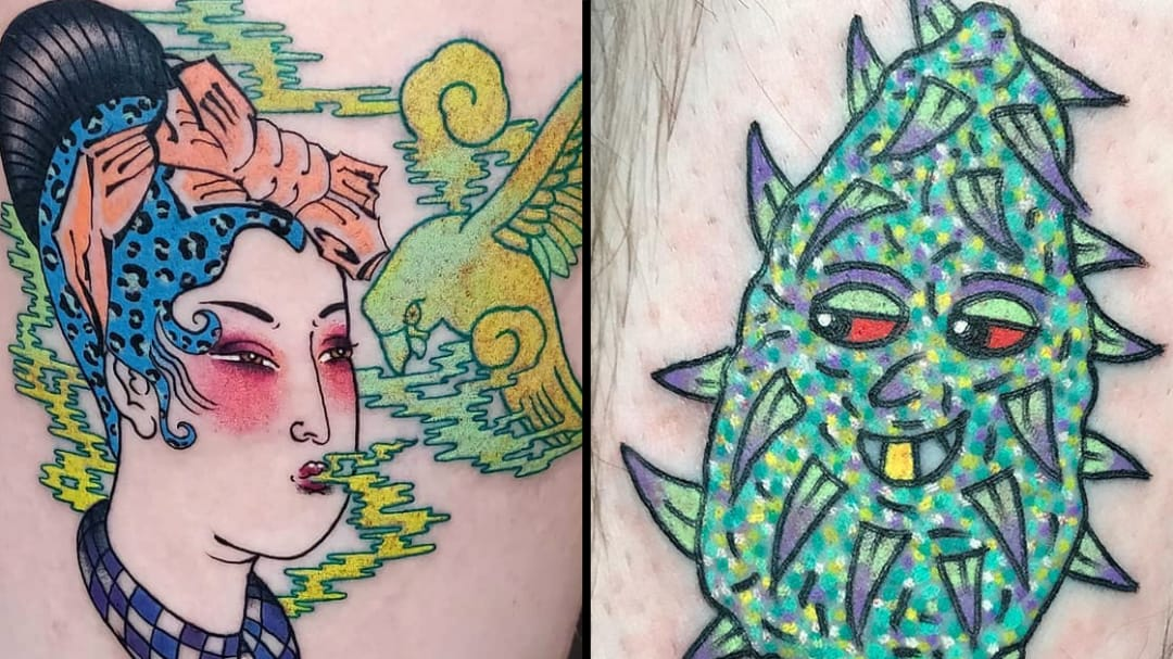 Celebrate The Holidays With These Sticky Sweet Weed Tattoos
