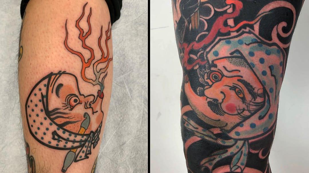 Hyottoko Tattoos: Homage to Humor
