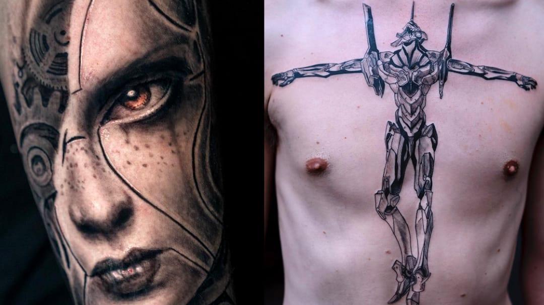 Robot Tattoos Cuz The Matrix is Probs Real