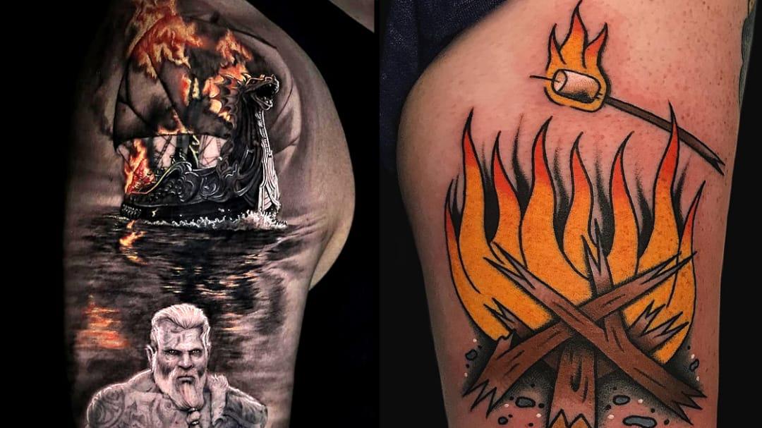 I'm a Firestarter: Flamin' Hot Fire Tattoos