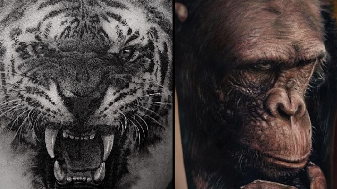 Realistic Animal Tattoos: Fur and Feathers You Can Almost Feel