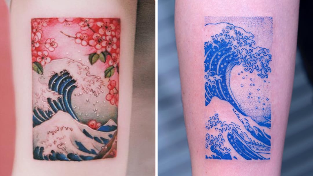 Riding the Rip Tide: Hokusai's Great Wave Tattoos