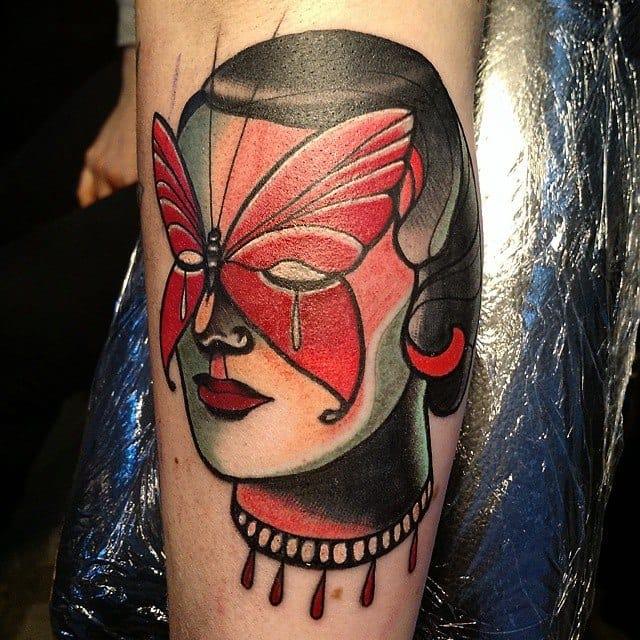 Colorful portrait tattoo