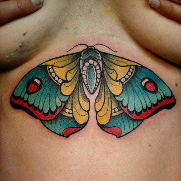 Tattoo Breast Butterfly