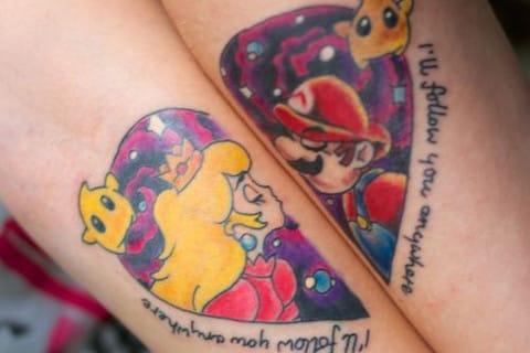 Mário e Princesa Peach (Sabe o nome do artista? Conte para a gente nos comentários)