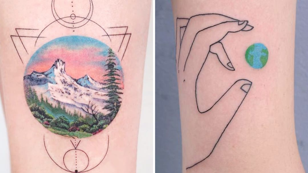 Depictions of Our Beautiful Planet: Earth Day Tattoos