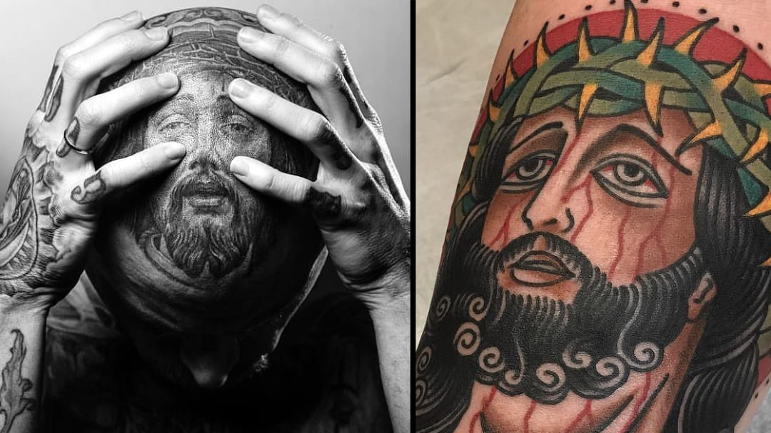 Divine Love for Notre-Dame: Inspiring Jesus Tattoos