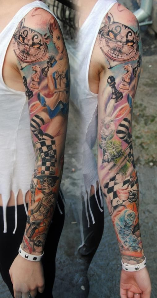 An amazing Alice inspired sleeve!
