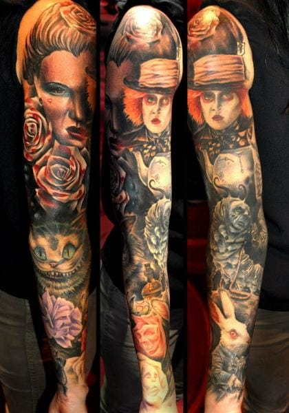 Tim Burton's movie is the inspiration for this sleeve by Benjamin Laukis