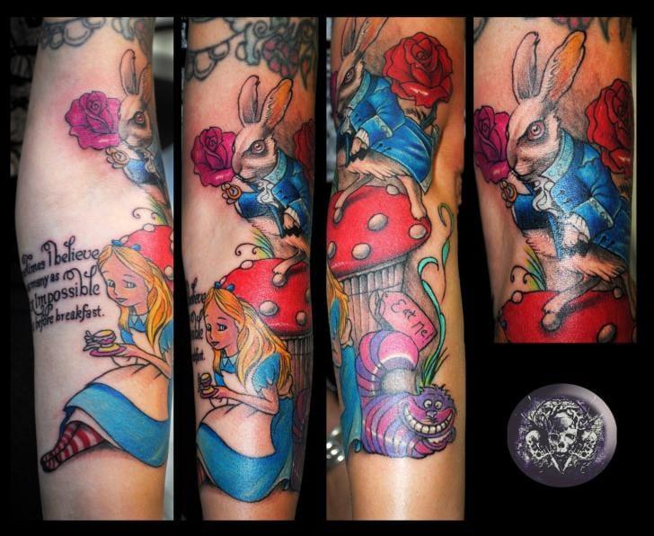 Wonderland sleeve by Medusa Tattoo