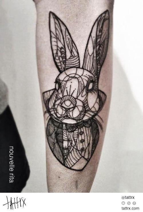 Stunning white rabbit by Nouvelle Rita