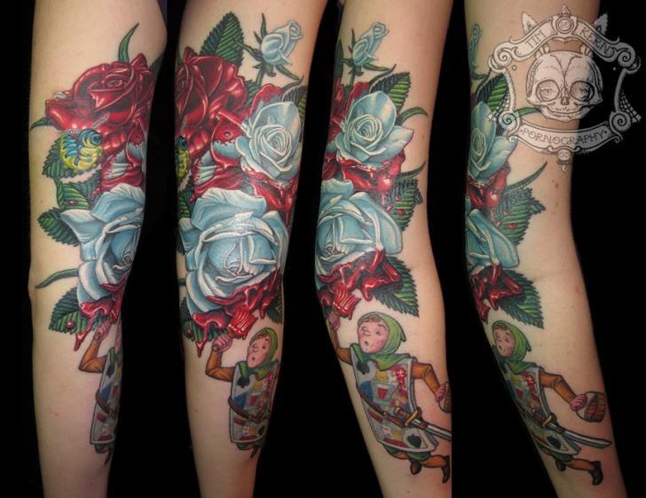Wonderland flower sleeve by Tim Kerr