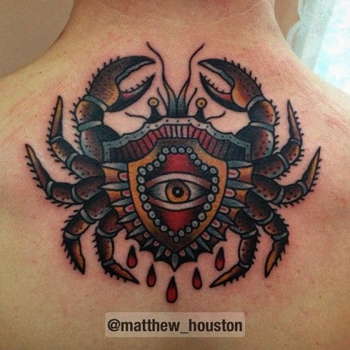 Color Tattoo By Matt From Black Sails Tattoo: 56 Crab & Other Odd Crustaceans Tattoos