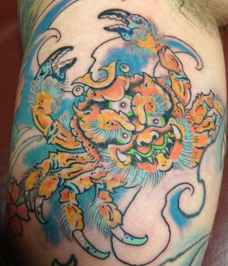 Luke Stewart tattoos heikegani-crab