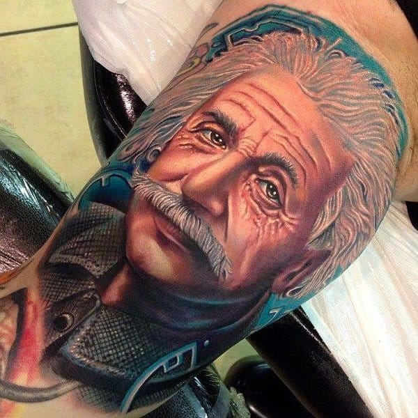 Albert Einstein tattoo