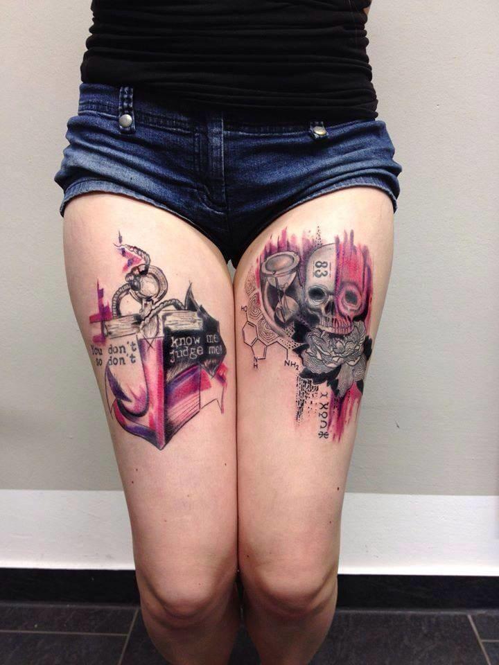 Mo Mori e Sua Arte Abstrata Nas Tatuagens