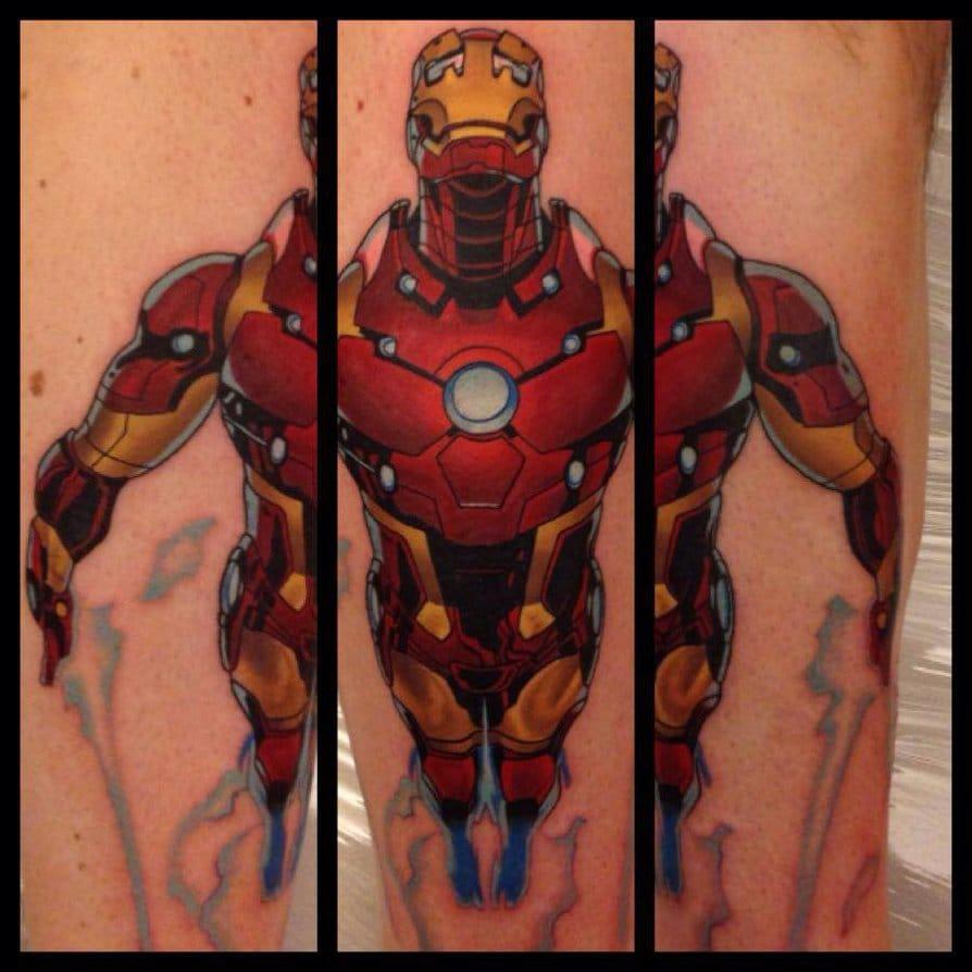 Homem de Ferro por Dane Tattoo