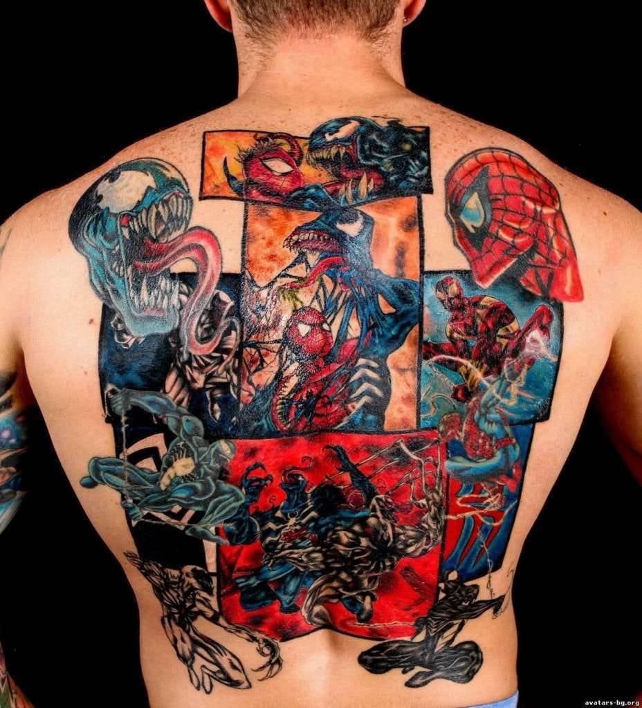 Fechamento de costas feito pelo tatuador Pablo