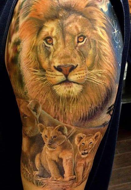 Família de Leões feita por Rember Orellana