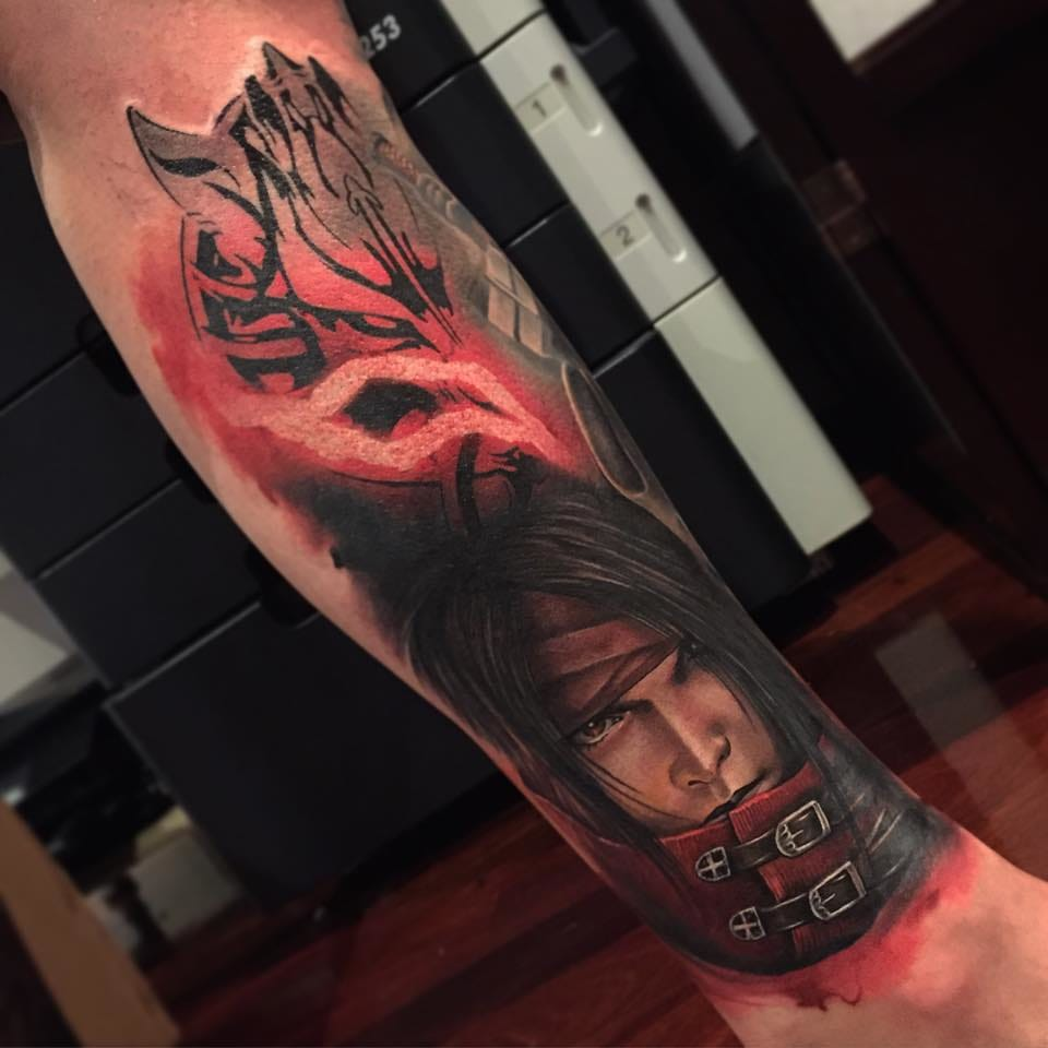 Looks like Benjamin Laukis is a fan of gaming tattoos, as there is another one by him, this time Final Fantasy!