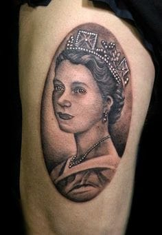 Queen Elizabeth II has ruled Britain since 1952 being coronated in 1953... artist unknown!