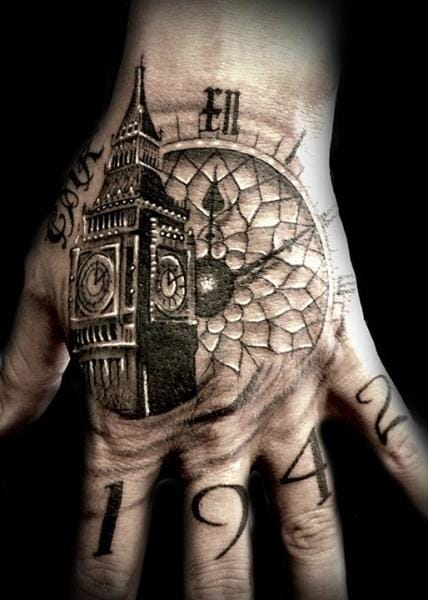 Club Tattoo created this amazing Big Ben tattoo