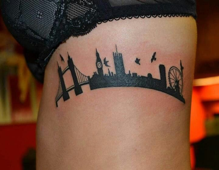 Beautiful London skyline...unknown artist!