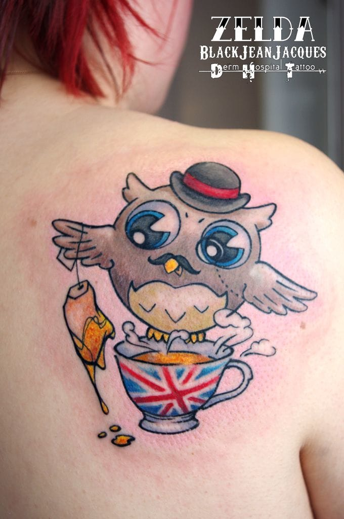 The definition of being British is drinking tea... tattoo by Zelda
