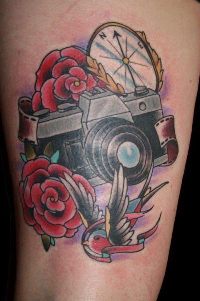 Traditional camera by Big Kahuna Tattoo