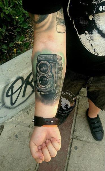 Camera piece by Tattoo Ligans