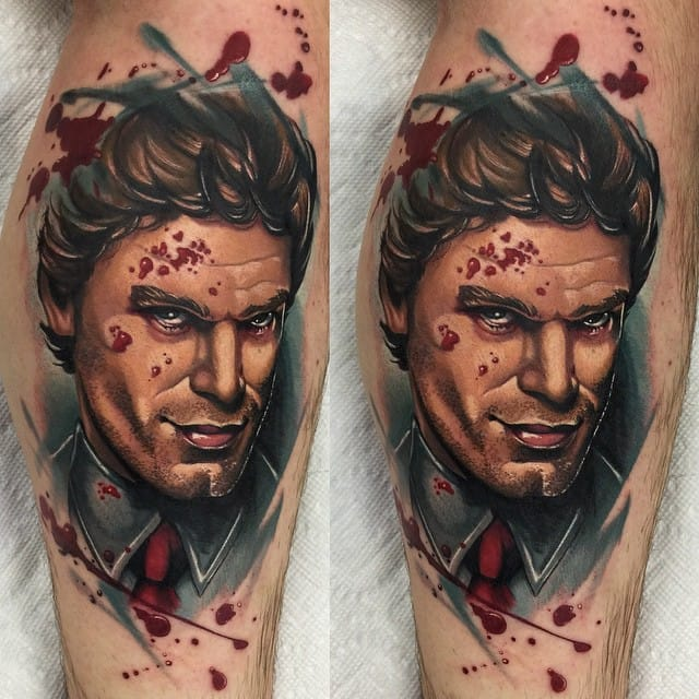 Talking of TV series, you might love another famous serial killer, Dexter. Tattoo by Audie Fulfer jr.