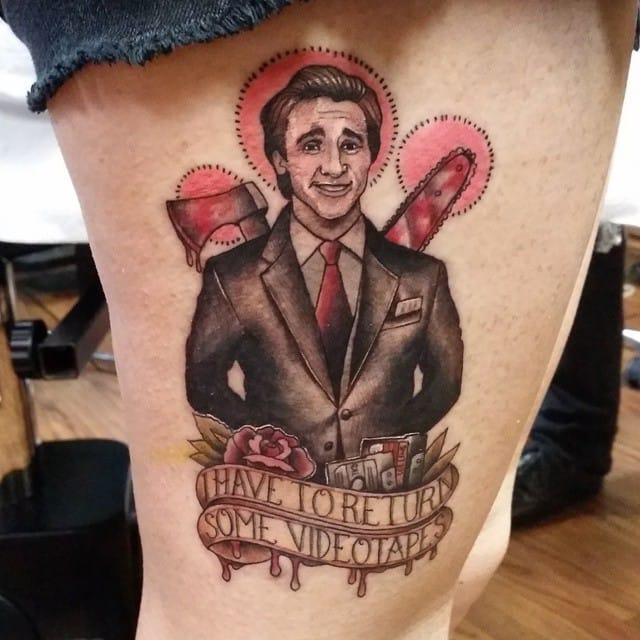 A very funny tattoo by Alfred Zaragoza...
