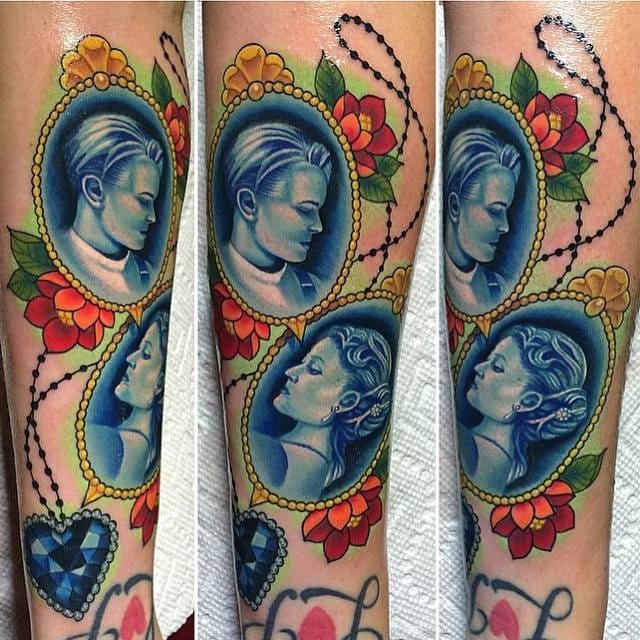 Amazing cameo tattoos by Megan Massacre inspired by movie Titanic!