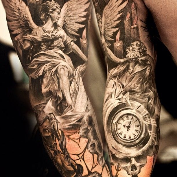 """""""Let him who would enjoy a good future waste none of his present"""" ~Roger Babson (Tattoo by Niki Norberg)."""