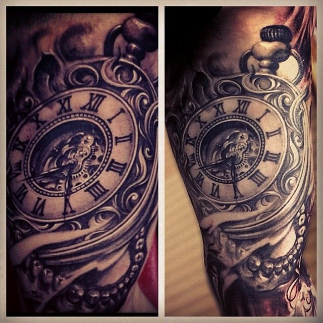 """""""You'll never find time for anything. If you want Time, you must make it"""" ~Charles Brixton (Tattoo by Carl Grace)."""