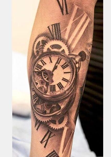 """""""Regret for wasted time is more time wasted. Use each day wisely"""" (Tattoo by Miguel Bohigues)."""
