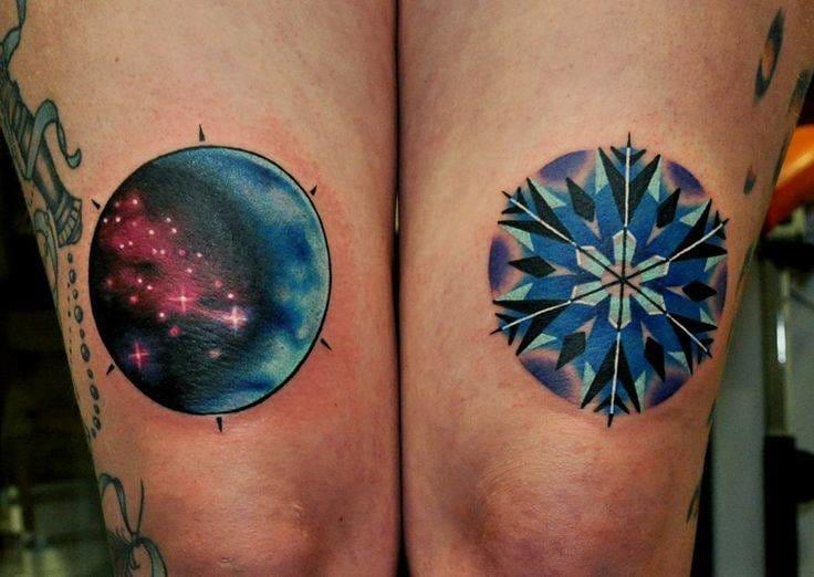 He does clean, perfect circular tattoos (one of the hardest shapes to pull of in a tattoo!)
