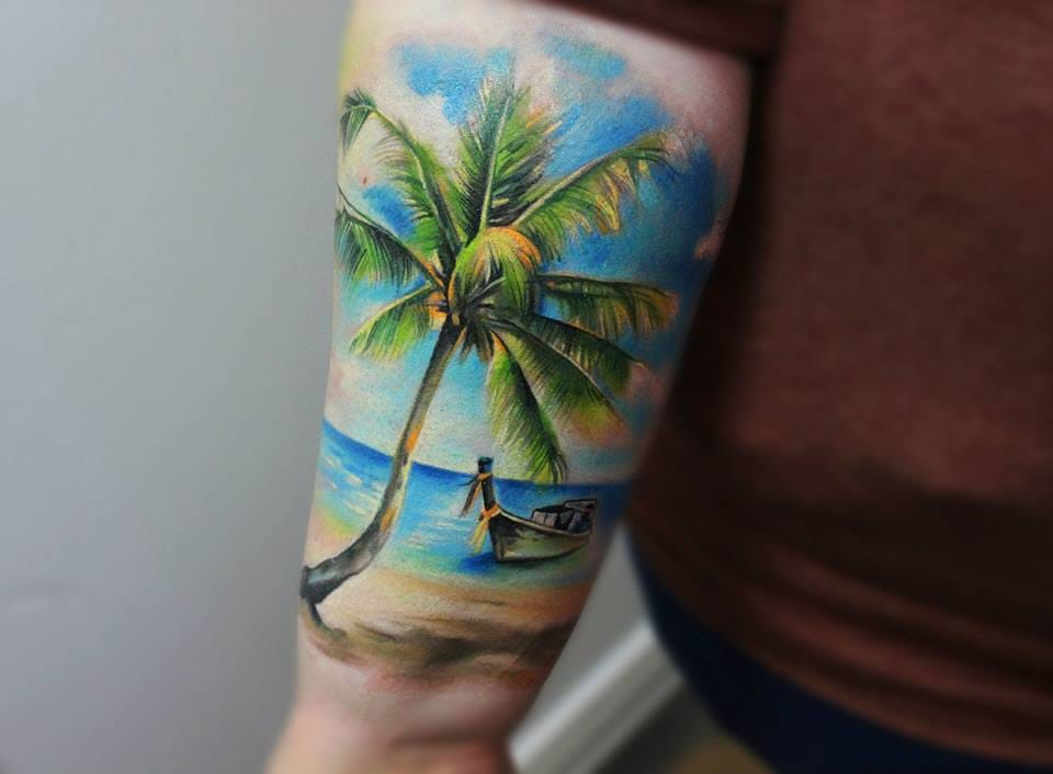 16 Perfect Beach Tattoos For Summer