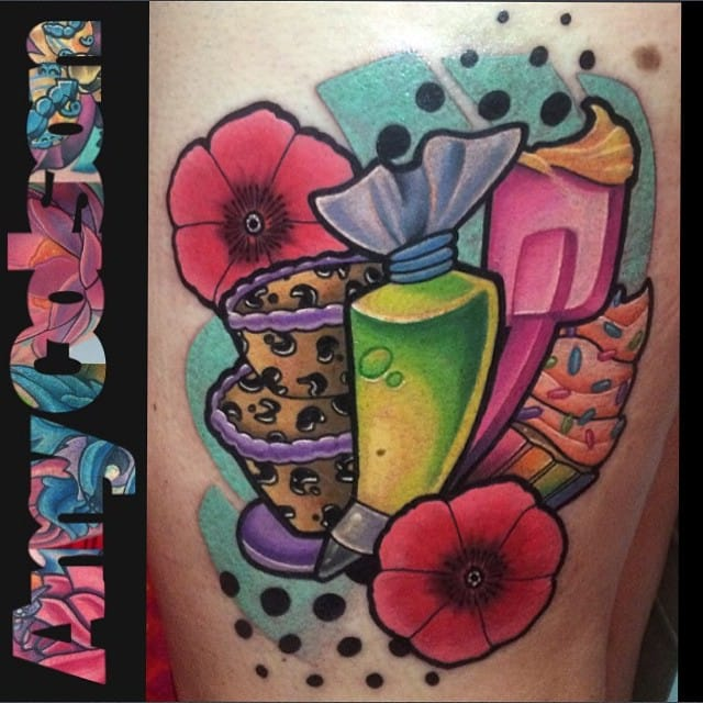 Cool baker tattoo by Amy Lynn Colson...
