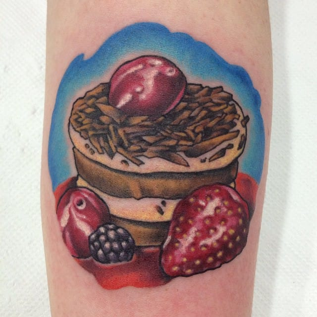Another chocolate and fruits pastry by Chris Molinuevo.