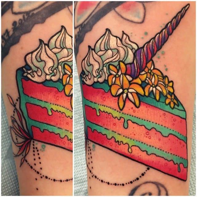 Unicorn cake by Katie Shocrylas.