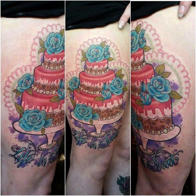 Lovely wedding cake by Megan Rose.
