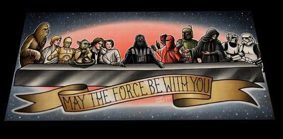 Brilliant Star Wars last supper scene
