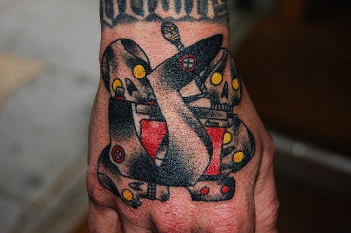 Tattoo Machine Skull Tattoo by Marked For Life