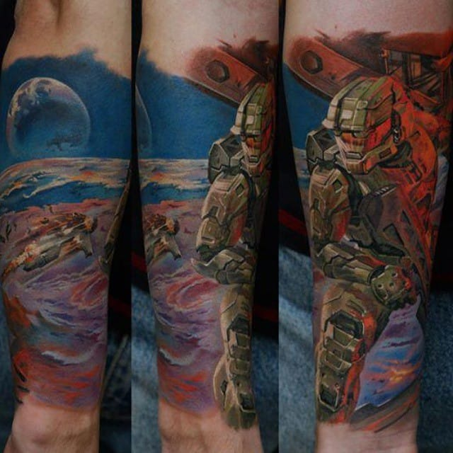 Out of this world Halo piece by Dmitriy Samohin...